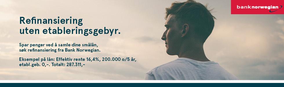 refinansiering av lån hos bank norwegian
