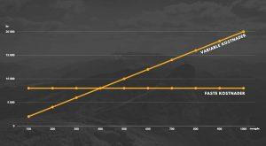 faste og variable kostnader graf